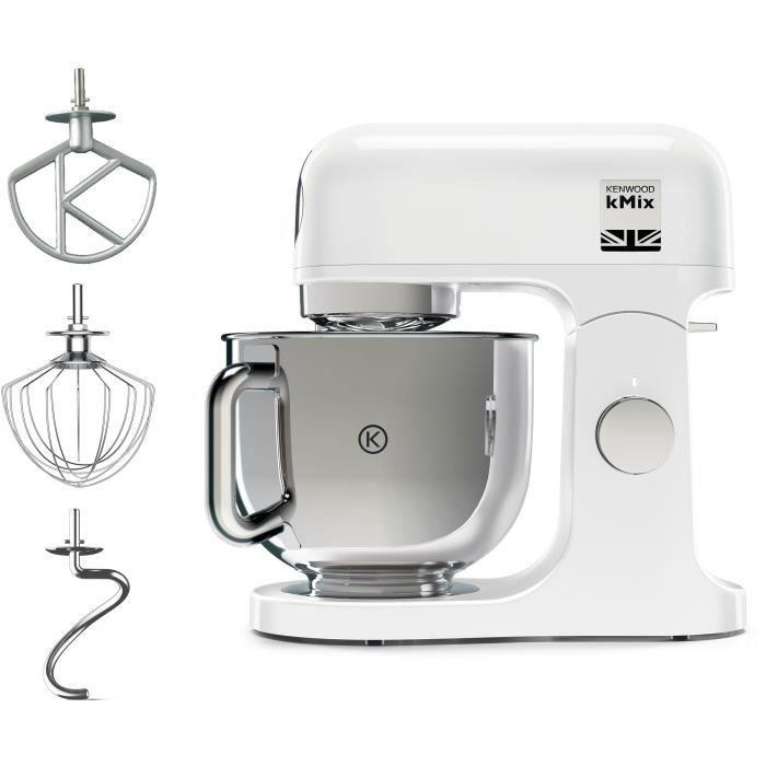 KENWOOD KMX750AW Robot pâtissier kMix - 5L - 1000W - Corps Métal - Coloris blanc
