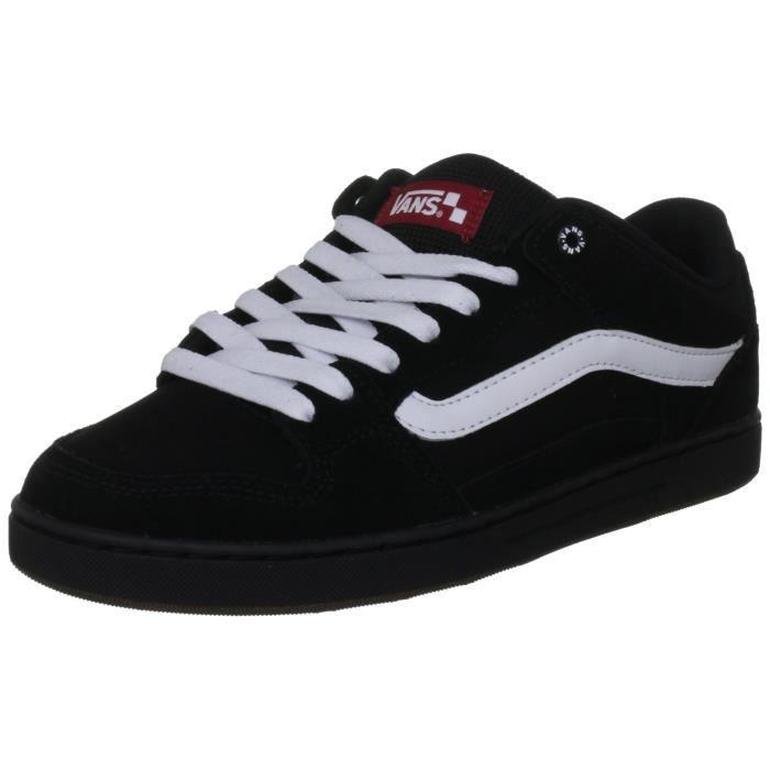 VANS chaussures baxter bmx homme noires - blanches - gomme noire H91NP Taille-40 1-2