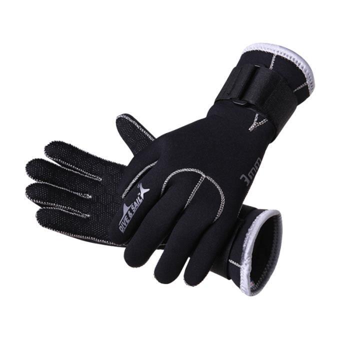 Gants de plongée chauds de 3 mm d'épaisseur anti-usure antidérapants Protectiva de en apnée PLAQUETTE DE NAGE - PADDLE