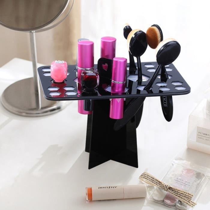 1 pièces porte-pinceau de maquillage pratique brosse de arbre de séchage à l'air cosmétique pour femmes COFFRET DE MAQUILLAGE