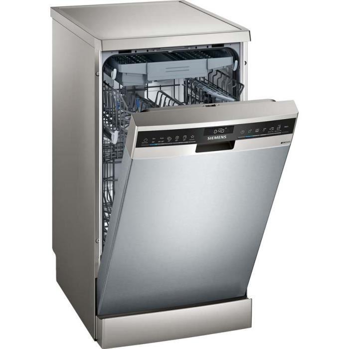 siemens - lave-vaisselle 45cm 10c 44db a++ pose-libre inox - sr23ei28me