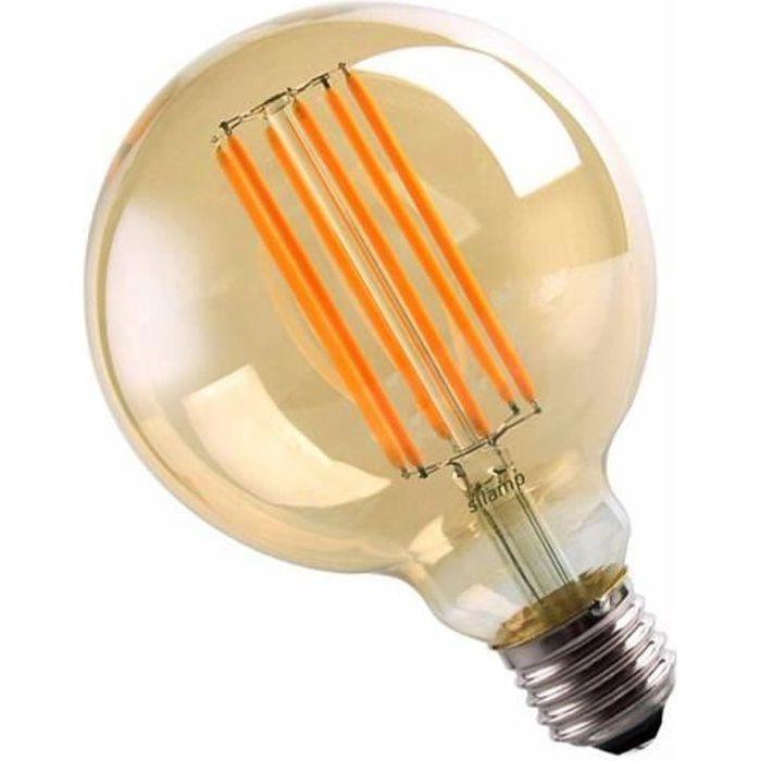 Ampoule LED E27 Filament 6W 220V COB G95 360° Globe Fumé - Blanc Chaud 2300K - 3500K