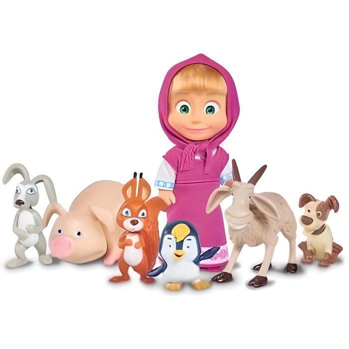 Masha et Michka - Coffret poup?e Masha et ses 6 amis animaux