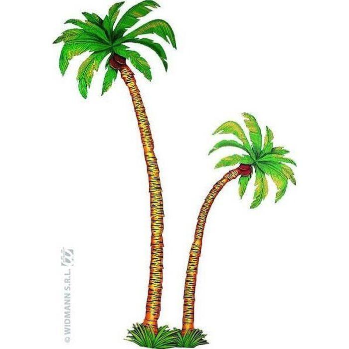 Set 2 décors palmier