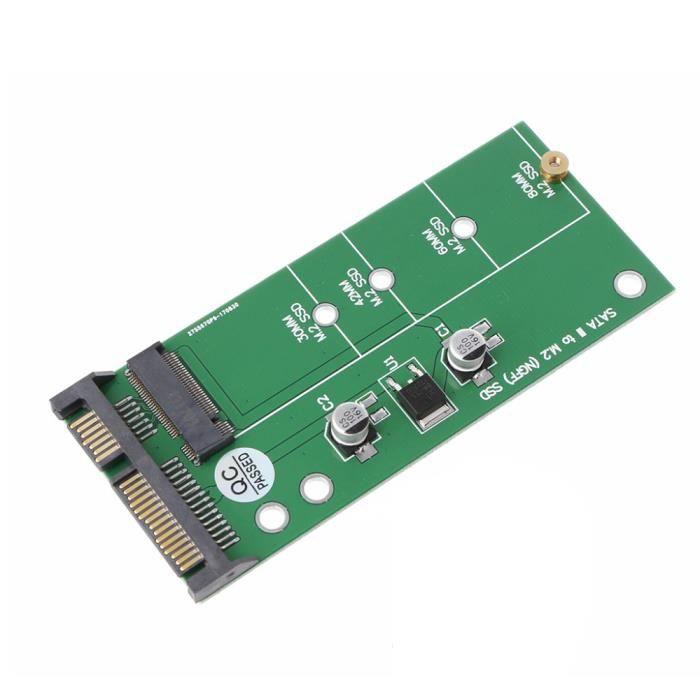 Adaptateur Ngff ( M2 ) Ssd À 2.5 Pouces Sata Carte De Conversion M.2 Ngff Ssd À Sata3 pour Disque Dur 30 42 60 80Mm M.2 Ssd