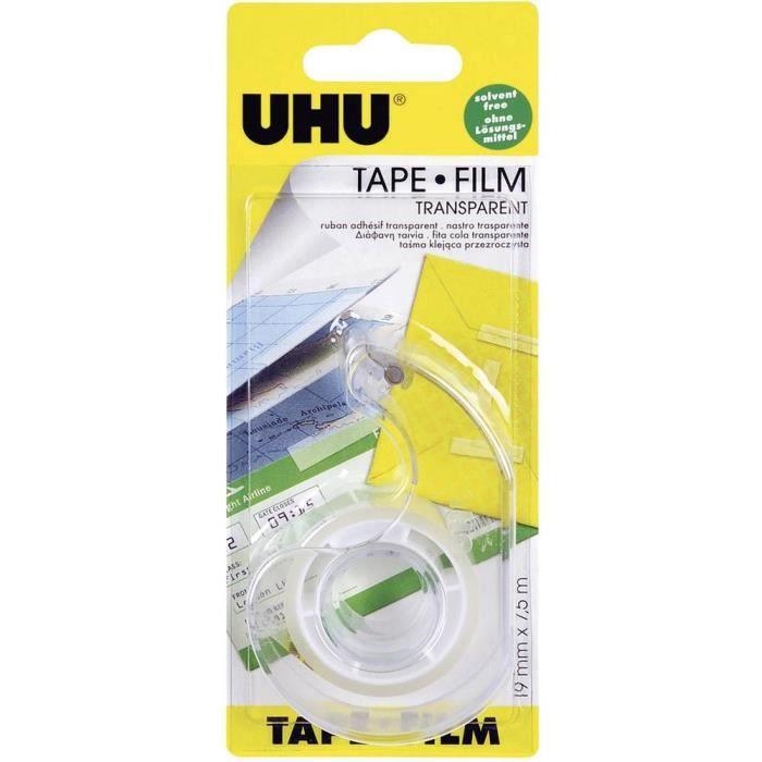 Film adhésif UHU® UHU 45970 transparent (L x l) 7.5 m x 19 mm 1 rouleau(x)