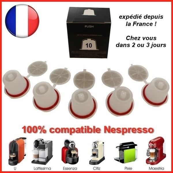 capsule rechargeable nespresso achat vente pas cher. Black Bedroom Furniture Sets. Home Design Ideas