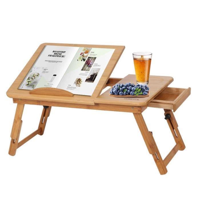 Table D Ordinateur Pliable En Bambou Table De Lecture De Lit Table