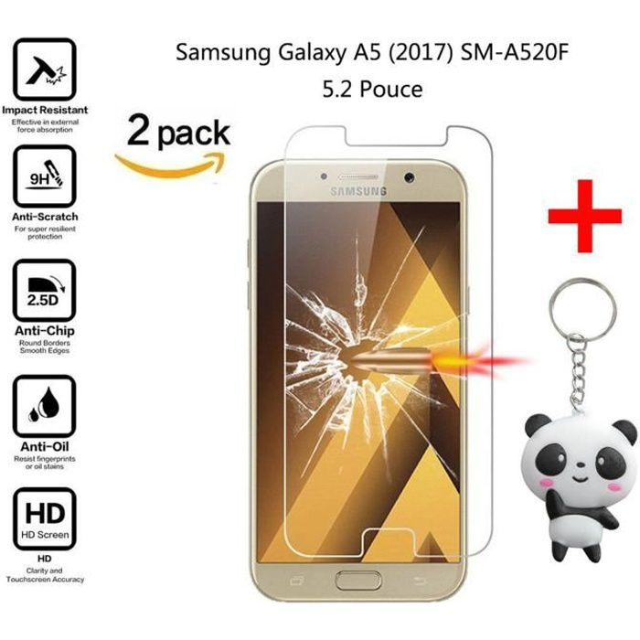 1 Pi/èces SONWO Protection /écran Galaxy A5 2017 en Verre tremp/é Film Vitre Protecteur r/ésistant HD Ultra Transparent Protection /écran pour Samsung Galaxy A5 2017 Compatible