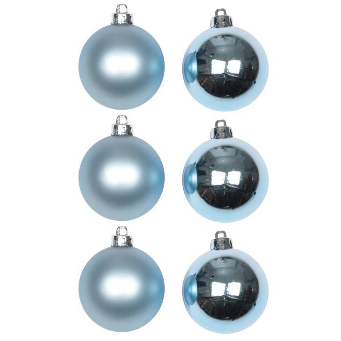 100 pièces de Noël Boule Set Dans Aqua//Argent