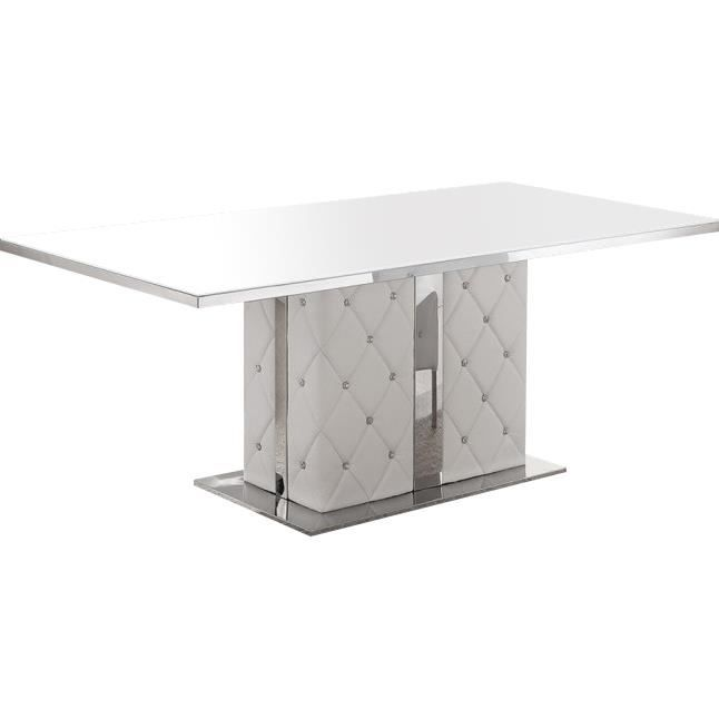 table manger table de salle manger capitonn e blanc