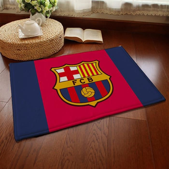 barcelona quipe de football tapis de salon shaggy 80mm 40x60 cm achat vente tapis cdiscount. Black Bedroom Furniture Sets. Home Design Ideas