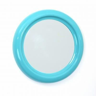 round miroir rond pvc 30 cm turquoise achat vente. Black Bedroom Furniture Sets. Home Design Ideas