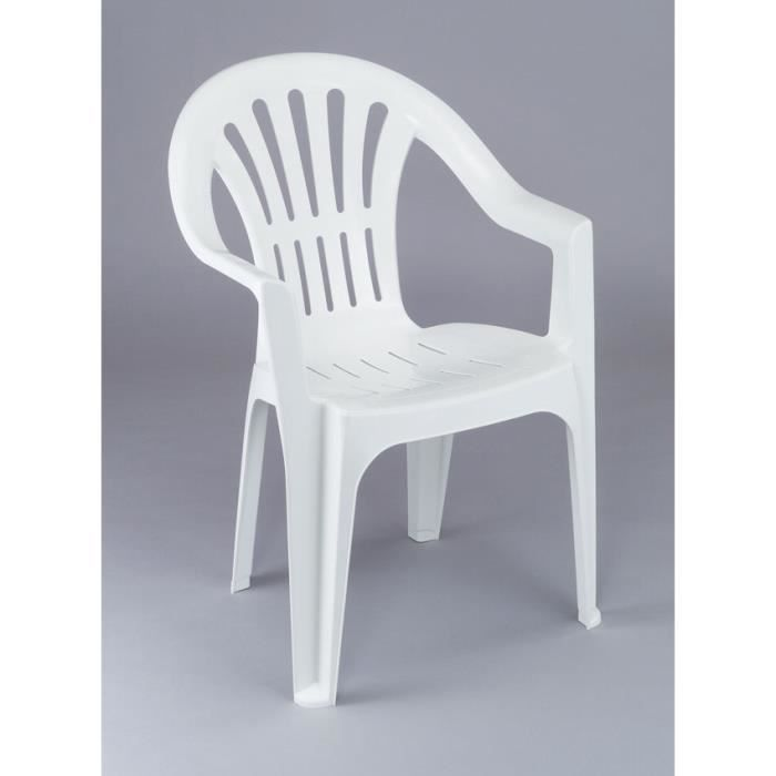 lot 12 chaises de jardin en plastique blanc elba achat. Black Bedroom Furniture Sets. Home Design Ideas