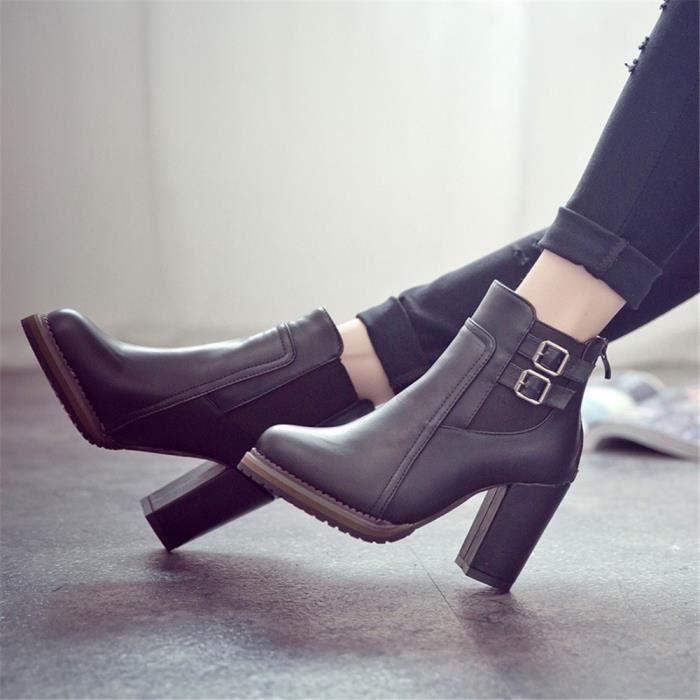 femme Bottine plein Taille talons pour Talons Plus hauts Confortable personnalité mode Chaussures de à Femmes air bottes femme Nw80vnOm