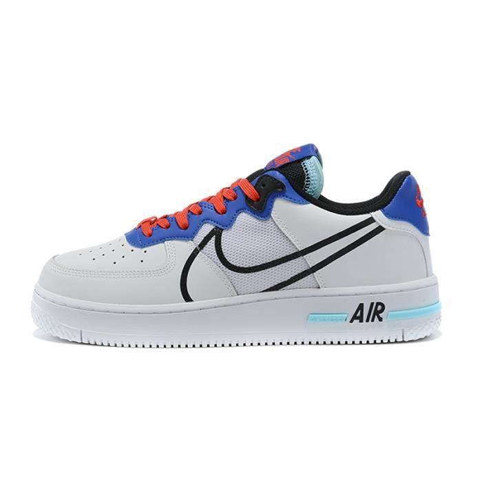Chaussures de course Air Force 1 React pour hommes et femmes bleu ...