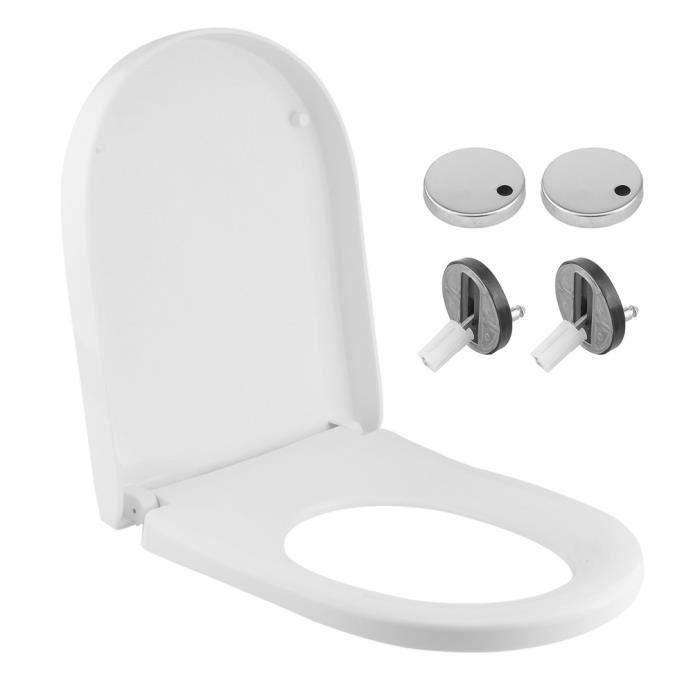 Wc Siège Couvercle De Toilettes Abattant Abattant Siège de toilettes soft close Bain Salle de bains