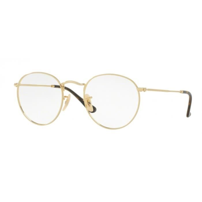 fc5d97b985108 Lunettes de vue Ray-Ban Round Metal RX3447V 2500 Gold 47-21 Or ...