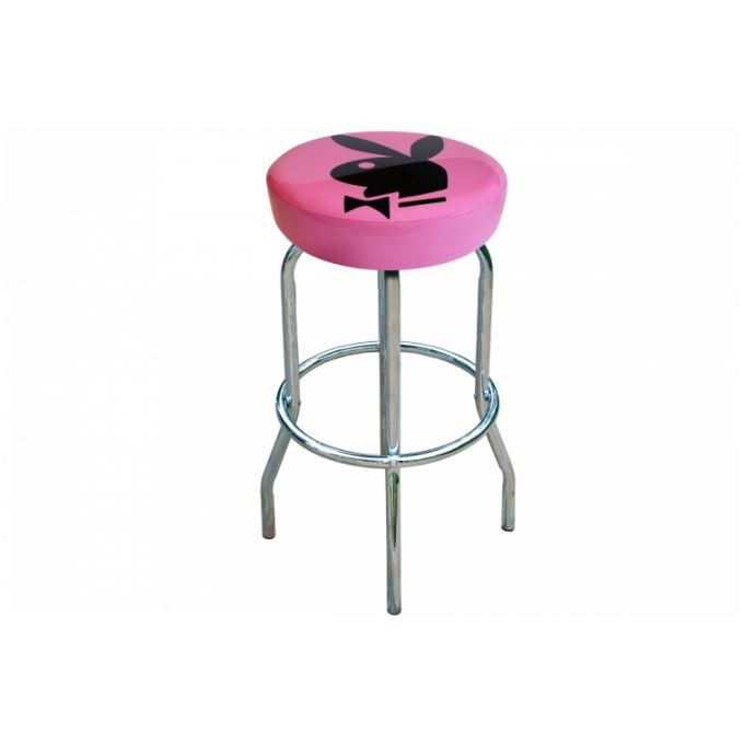 tabouret de bar en vinyl rose et pieds chrom s achat vente tabouret de bar vinyl cdiscount. Black Bedroom Furniture Sets. Home Design Ideas