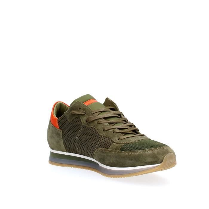 PHILIPPE MODEL PARIS SNEAKERS Homme GREEN, 45