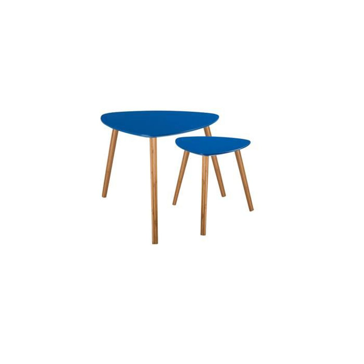 Table basse scandinave bleu fonc lot de 2 achat for 2 table basse scandinave