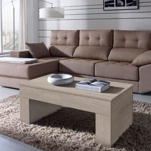 TABLE BASSE Table basse chêne clair relevable - MOLY  - Taille