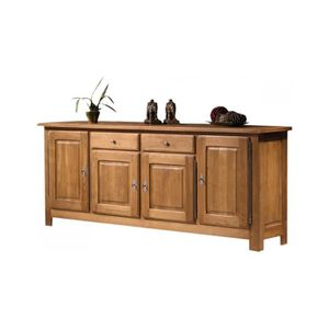 buffet 4 portes bois massif achat vente buffet 4 portes bois massif pas cher cdiscount. Black Bedroom Furniture Sets. Home Design Ideas