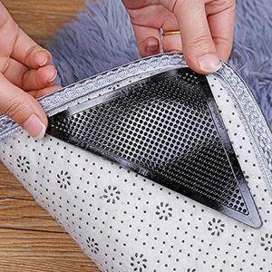 ELENXS Nouveau 4pcs r/éutilisable Lavable Tapis Tapis Tapis Grippers Antiderapant Grip Autocollant en Silicone pour la Maison de Bain Salon