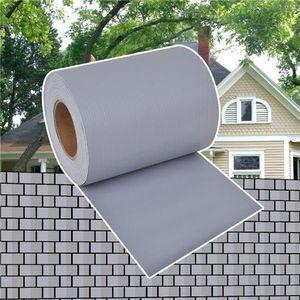 CLÔTURE - BARRIÈRE Brise-vue pour clôture en PVC gris clair en roulea
