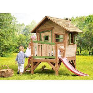 BALANÇOIRE - PORTIQUE AXI Maisonnette Enfant Cabane en bois sur pilotis