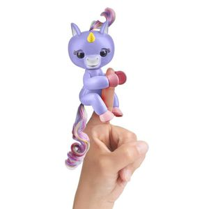 ROBOT - ANIMAL ANIMÉ FINGERLINGS Bébé Licorne Bleue Interactive