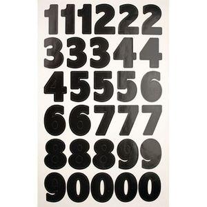 Planche autocollant sticker gommette numéro nombre lettre alphabet chiffre r5