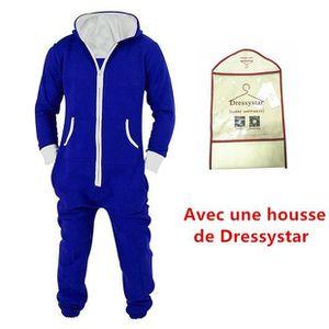 PYJAMA Unisexe Pyjamas Combinaison Zippée à Capuche Adult