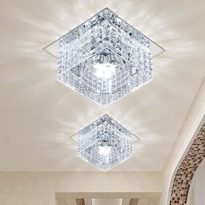 PLAFONNIER 1PCS 5W Plafonnier en Cristal Spot LED Lustre Lumi