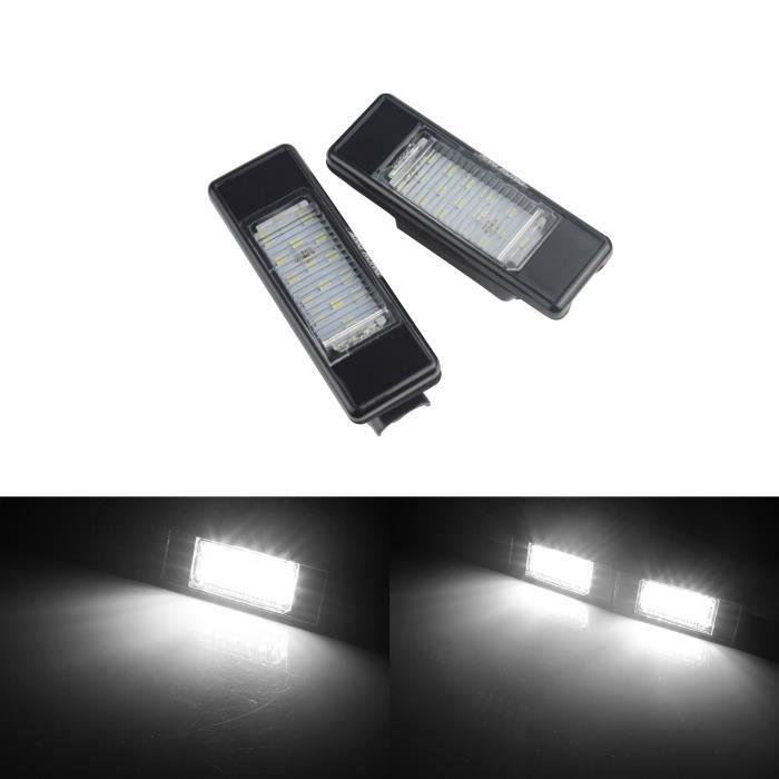 ANGRONG Paire Feux Eclairage de Plaque LED Pour Peugeot 106 307 308 3008 406 407 508 806 807 Expert Citroën Berlingo C2 C3 C4 C5 C6