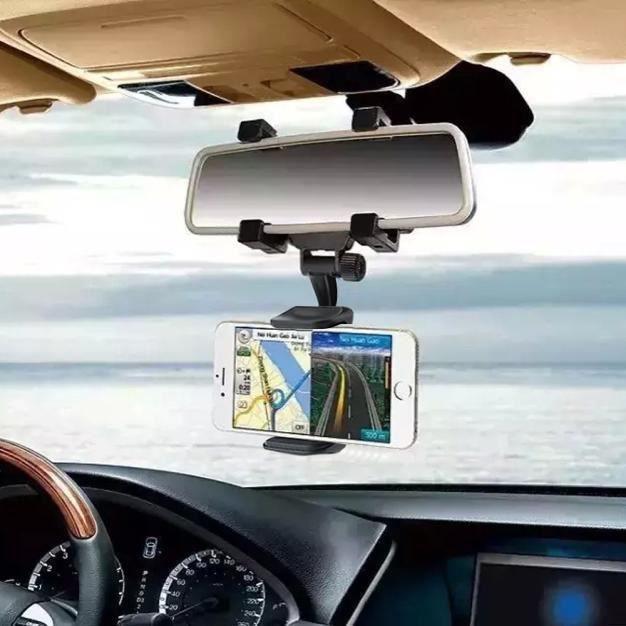 Car Rearview Mirror Mont Support à berceau mécanique Pince pour téléphone portable XFM70308625