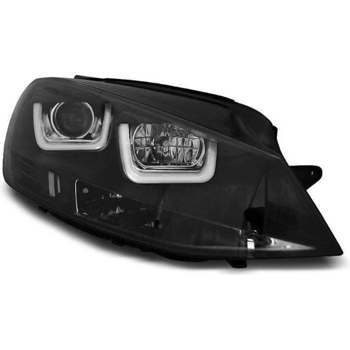 Paire de feux phares VW Golf 7 12-17 U-Type DRL led noir (WK6)
