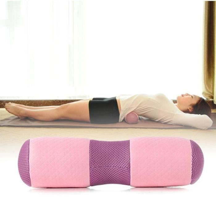 3PACK 37cm Yoga Taille Cou Dos Oreiller Rebond Tissu Respirant Mémoire Mousse Oreiller Cervical Santé Soins Douleur Libé HH10967