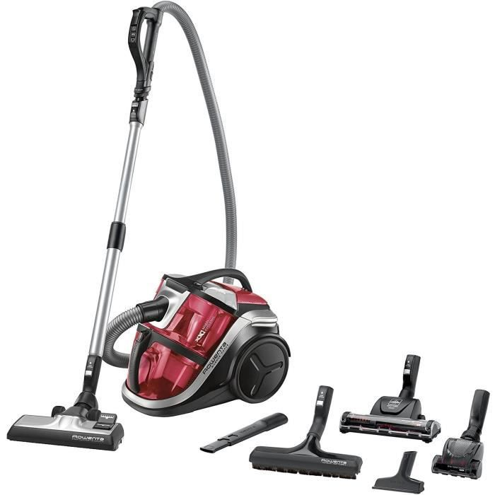 ASPIRATEUR BALAI Rowenta RO8370EA Aspirateur sans Sac Silence Force Multi-Cyclonic Animal Care Pro 3AAA Silencieux 68dB Accessoi389