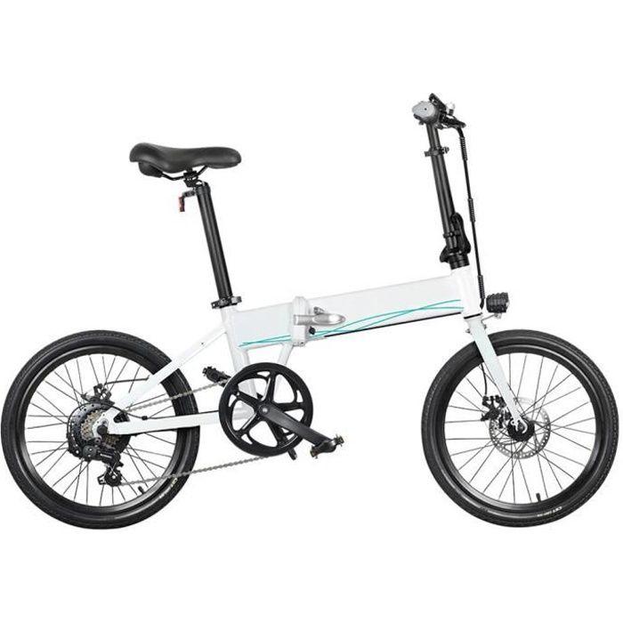 FIIDO D4S Draisienne électrique 20- 250 watts 10.4Ah, Vélo électrique Scooter électrique pliant 25 km / h Blanc(Arrivée dans 1-10)