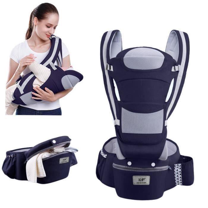 0-48 Mois Porte-bébé Multifonctionnel ventral et dorsal Voyage facile pour les bébés Multi-poches Doux La sécurité Pratique QUIK70