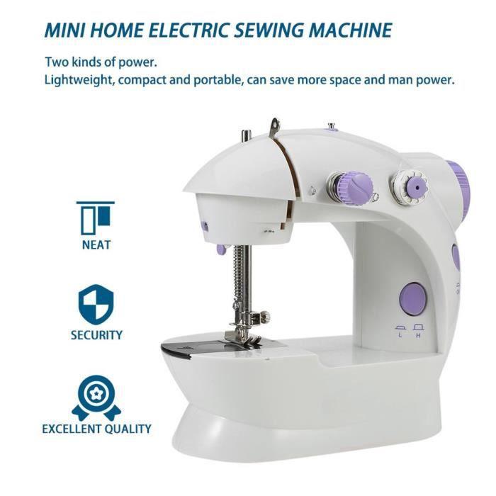 Adapter la petite machine à coudre portative électrique multifonctionnelle de petit ménage Prise Américaine