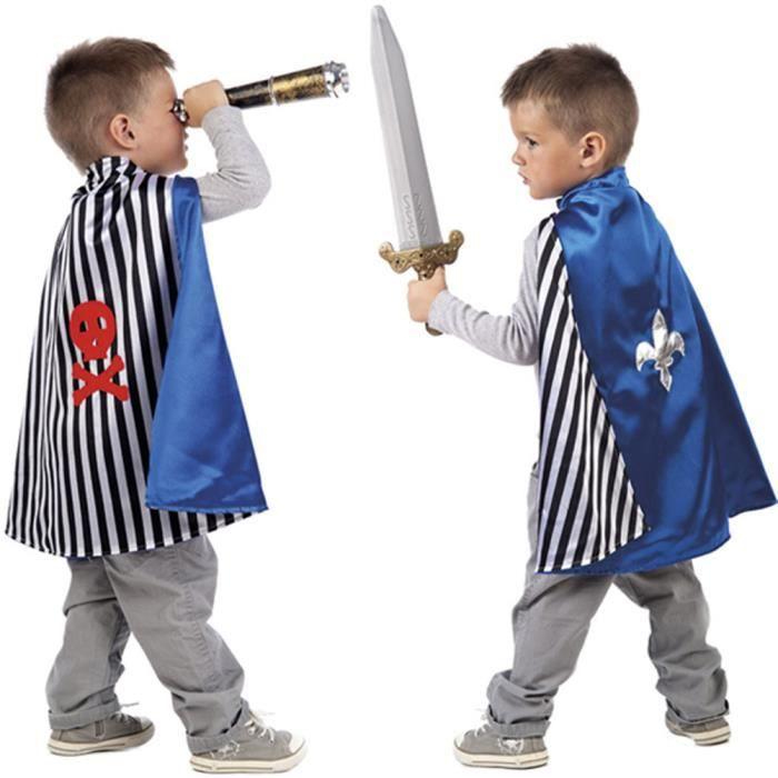 Cape Réversible Pirate et Chevalier - Enfant