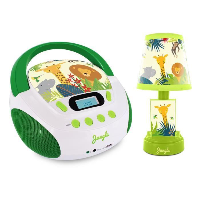 Radio CD et lampe de chevet style Jungle