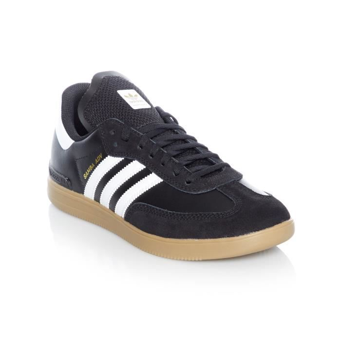 Chaussures Adidas Samba ADV Core Noir Footwear Blanc Gum4