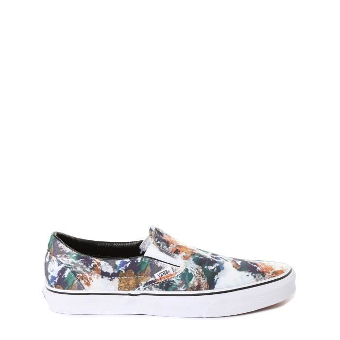 Basket VANS_Fashion - Mode U CLASSIC SLIP-ON (EARTH) BLUE-TR_unisexe