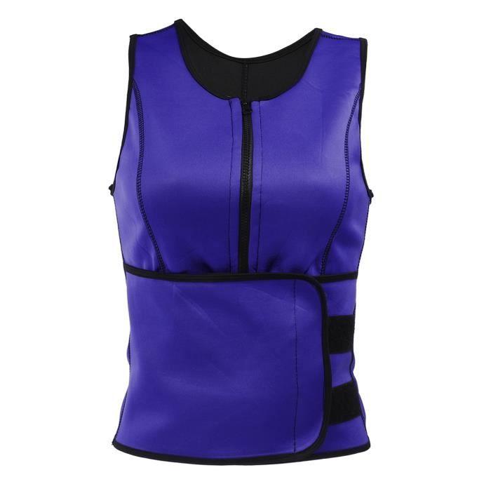 NEUFU Vêtement Musculation flowop taille Trim-mer Ceinture Femmes Masvelt Zipper Ceinture amincissante Violet Size: S