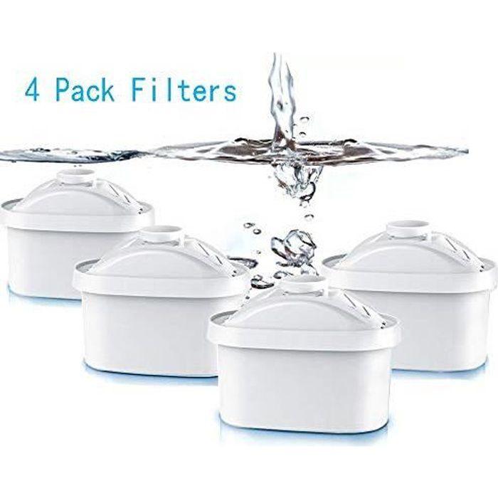4 Pcs Cartouche Filtrante Fit Brita Maxtra Carafe filtre à eau Cruche Cartouches Fit Brita Maxtra Cruchede Mavea Maxtra
