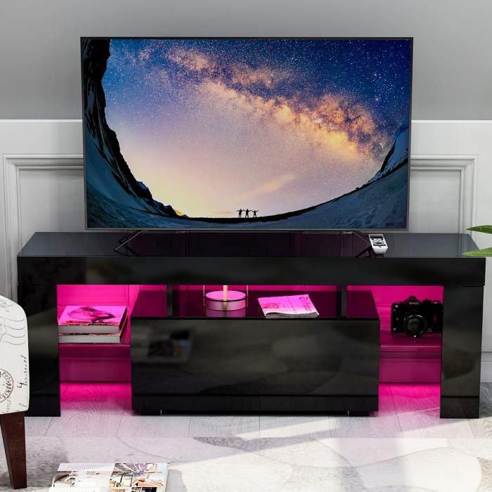Meuble TV pour Moins de 63- de TV - décor panneau MDF de haute qualité - L130cm