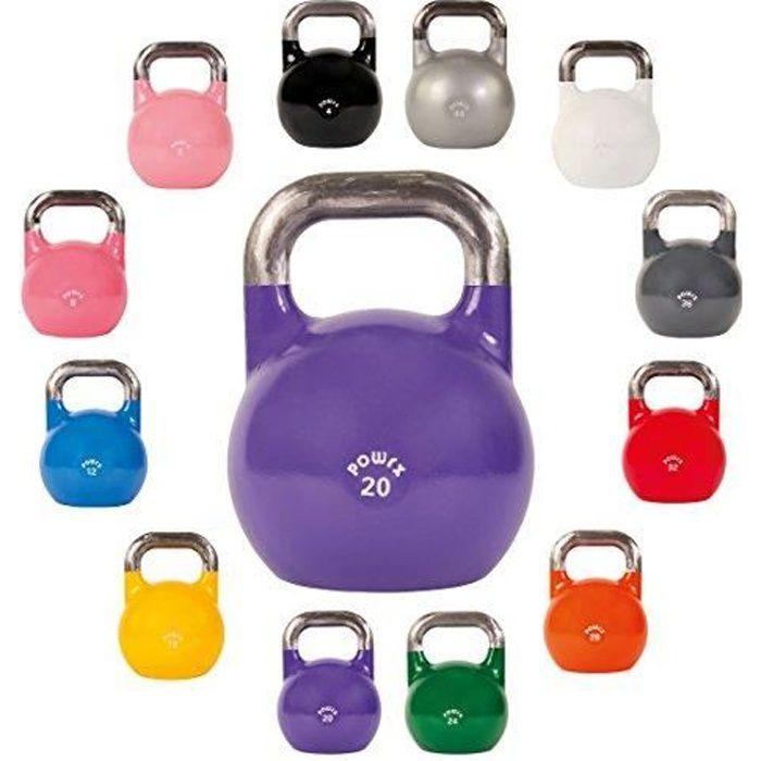 Kettlebell de compétition 4 à28 kg (20kg, violet)
